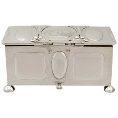 Antique Edwardian Sterling Silver Jewelry Casket