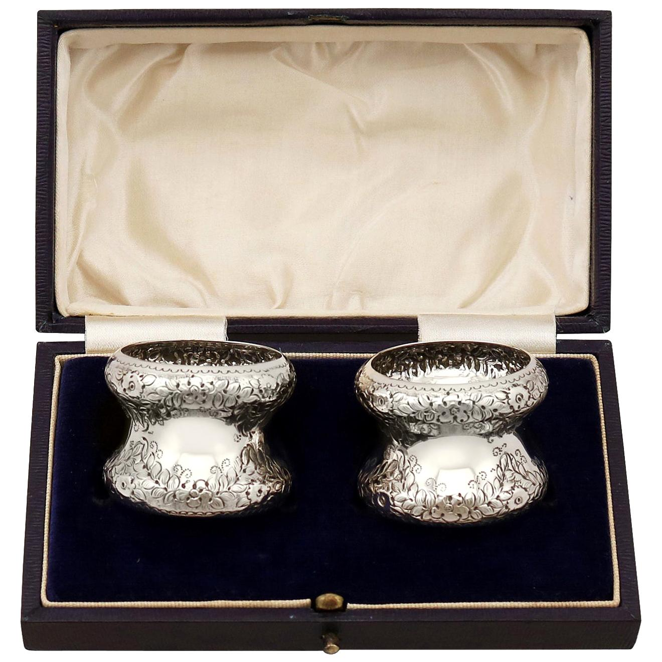 Antique Edwardian Sterling Silver Napkin Rings
