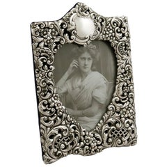 Antique Edwardian Sterling Silver Photograph Frame, 1901