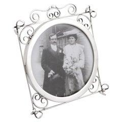 Antique Edwardian Sterling Silver Photograph Frame, 1905