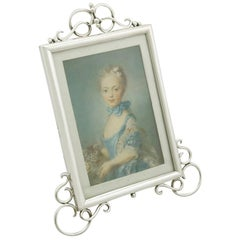 Antique Edwardian Sterling Silver Photograph Frame by E Mander & Son