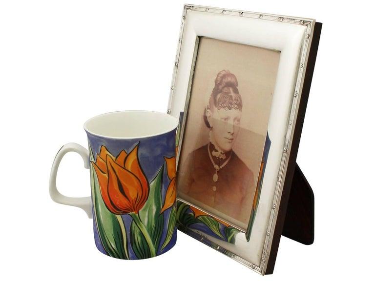 British Antique Edwardian Sterling Silver Photograph Frame For Sale