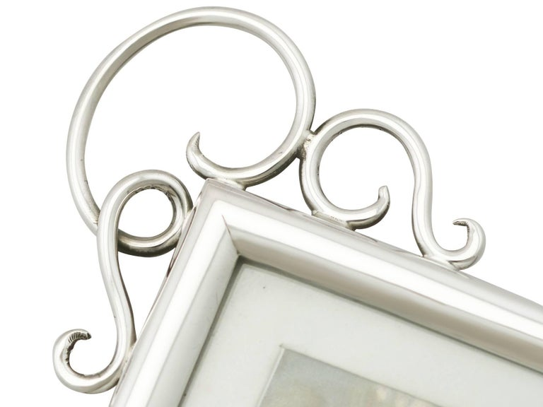 Antique Edwardian Sterling Silver Photograph Frame For Sale 1