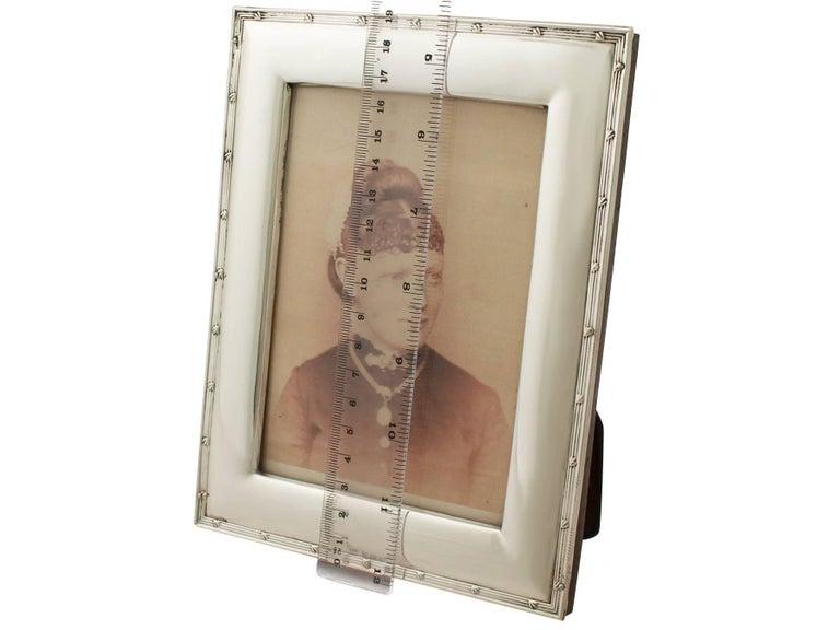 Antique Edwardian Sterling Silver Photograph Frame For Sale 4