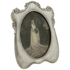Antique Edwardian Sterling Silver Photograph Frame