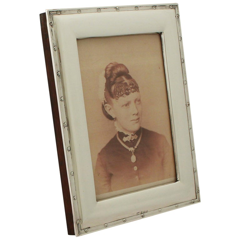 Antique Edwardian Sterling Silver Photograph Frame For Sale