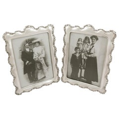 Antique Edwardian Sterling Silver Photograph Frames