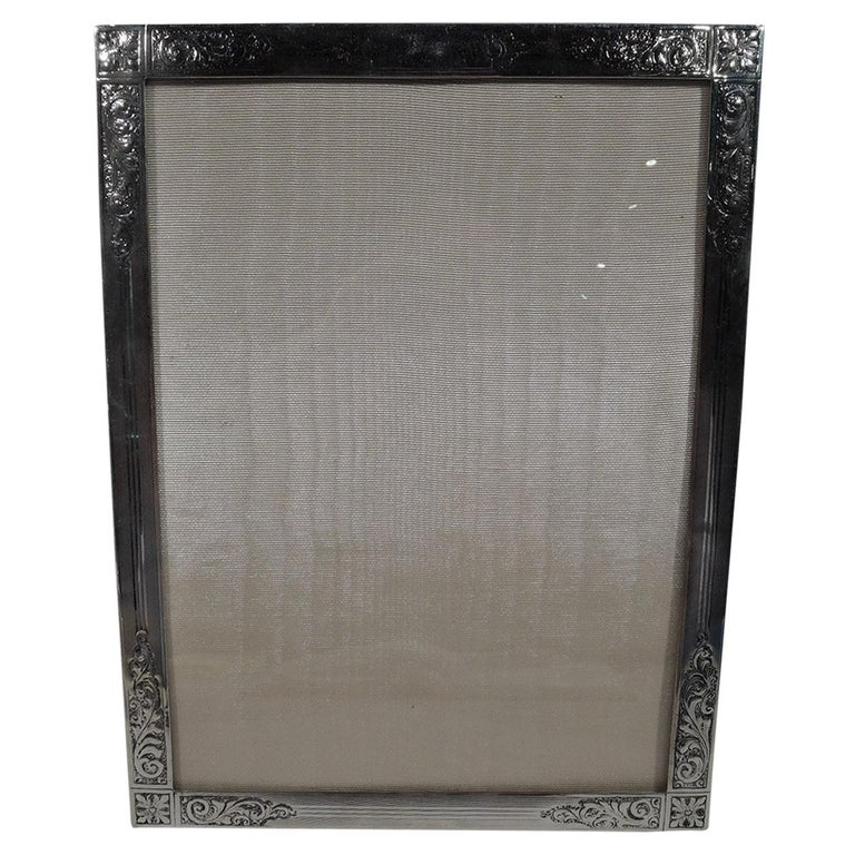 Antique Edwardian Sterling Silver Picture Frame by Birks For Sale