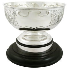 Antique Edwardian Sterling Silver Presentation Bowl by James Deakin & Sons