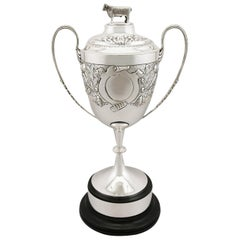 Antique Edwardian Sterling Silver Presentation Cup and Cover, 1902
