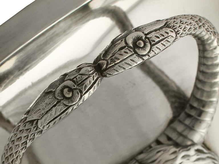 Antique Edwardian Sterling Silver Presentation Cup and Cover For Sale 5