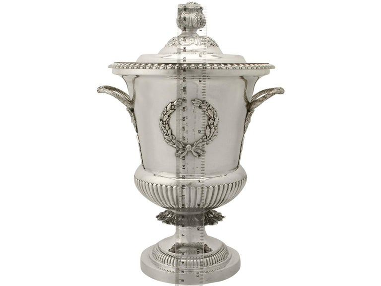 Antique Edwardian Sterling Silver Presentation Cup and Cover For Sale 10