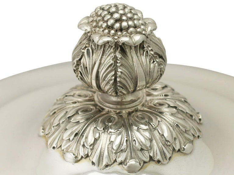 Antique Edwardian Sterling Silver Presentation Cup and Cover For Sale 1