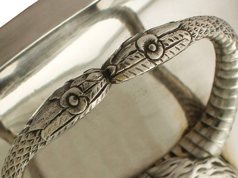Antique Edwardian Sterling Silver Presentation Cup and Cover For Sale 2