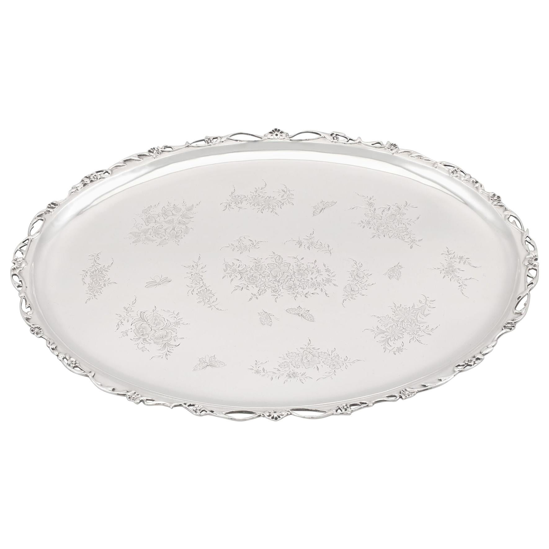 Antique Edwardian Sterling Silver Tray, 1903