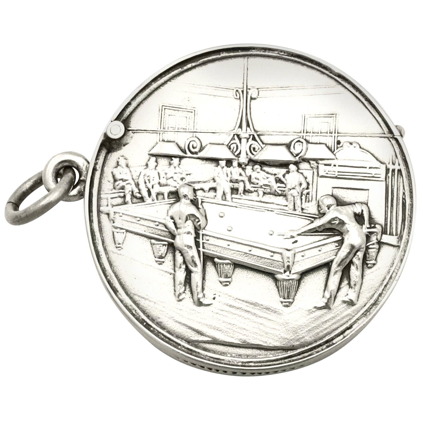 Antique Edwardian Sterling Silver Vesta Case
