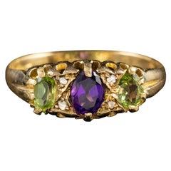 Antique Edwardian Suffragette 18 Carat Gold Ring Dated 1907