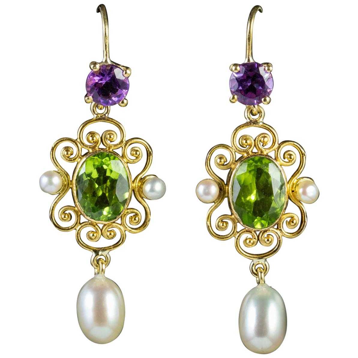 fafa1c902 Antique Peridot Earrings - 369 For Sale at 1stdibs