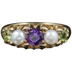 Antique Edwardian Suffragette Ring 18 Carat Gold, Dated 1917