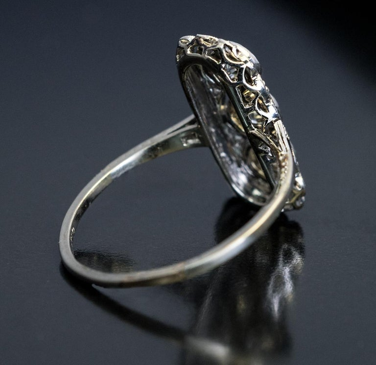 Edwardian Engagement Rings For Sale: Antique Edwardian Three-Stone Diamond Platinum Engagement