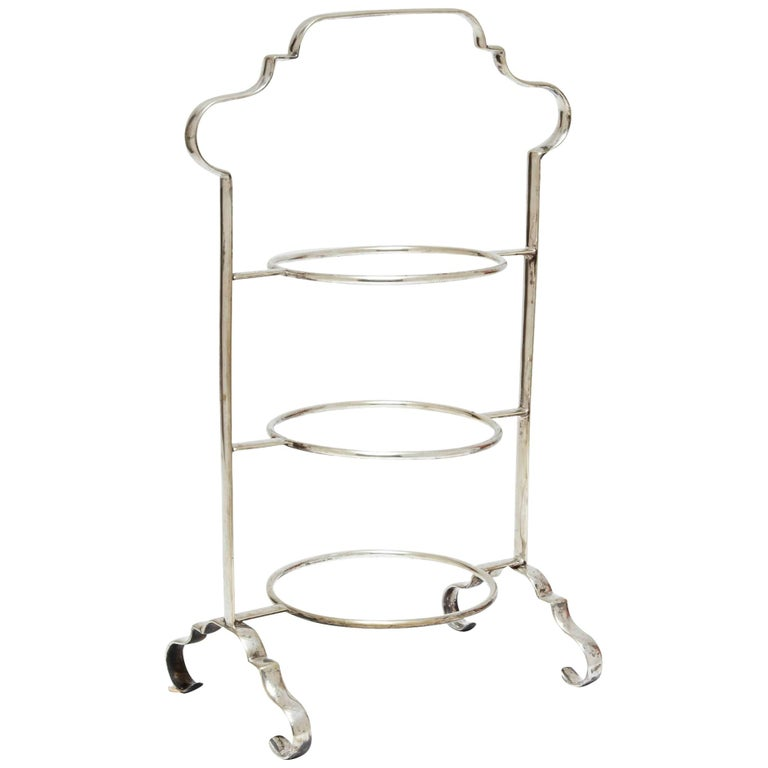 Antique Edwardian Three Tier Pastry Stand For Sale