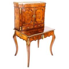 Antique Edwards & Roberts Marquetry Bonheur Du Jour Ladies Writing Desk