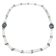 Antique Egyptian Enamel Flapper Belt Necklace 1920s