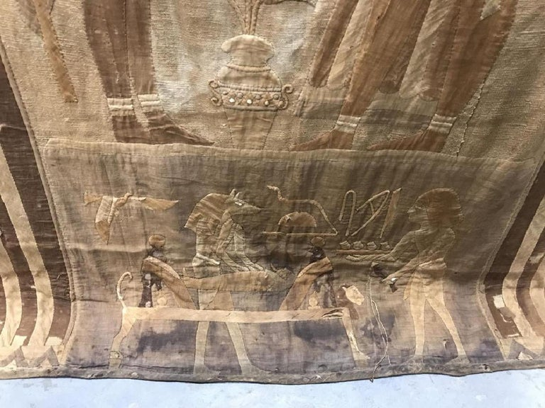 Antique Egyptian French Textile Tapestry For Sale 2
