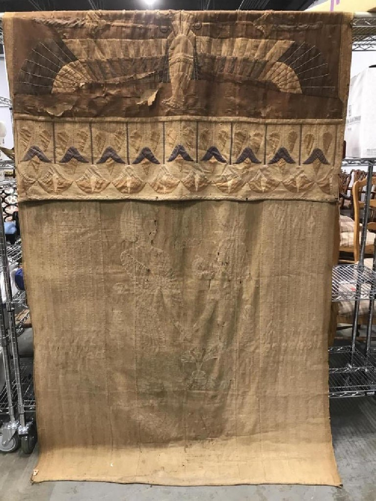 Antique Egyptian French Textile Tapestry For Sale 3