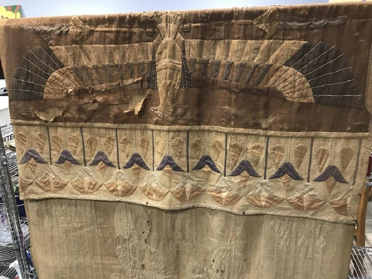 Antique Egyptian French Textile Tapestry For Sale 4