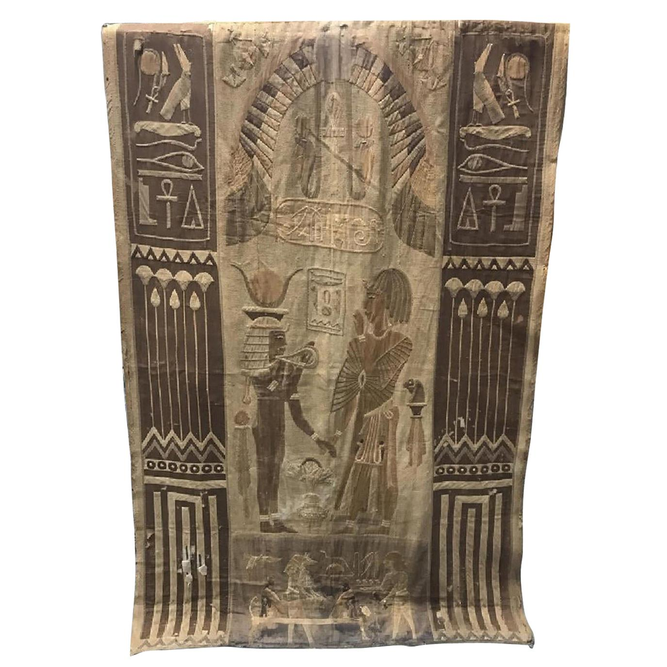 Antique Egyptian French Textile Tapestry