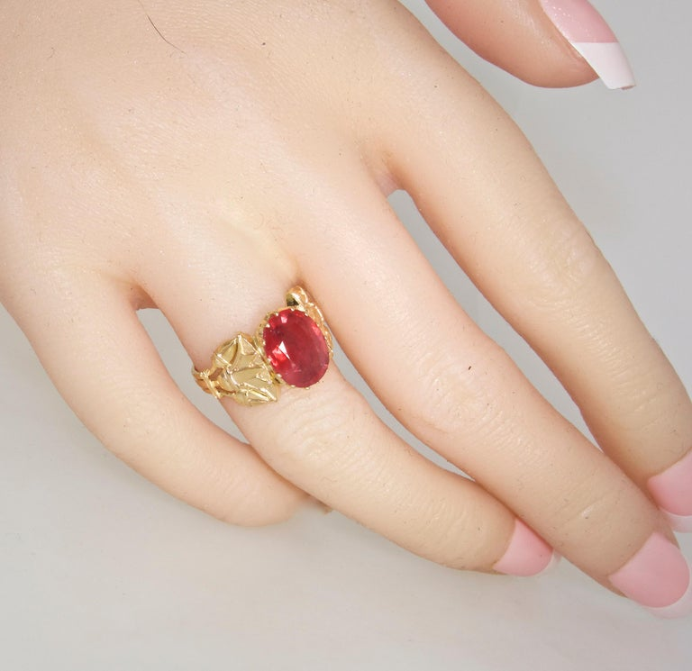 Antique Egyptian Revival Fire Opal and Gold Ring, circa 1915 For Sale 6
