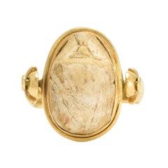 Antique Egyptian Revival Scarab Spinner Ring