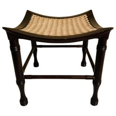 Antique Egyptian Revival Thebes Stool in the Style of Liberty & Co.