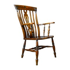 Antique Elbow Chair Edwardian Country Kitchen Windsor Armchair, circa 1910