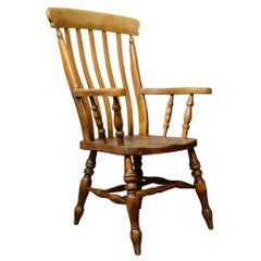 Antique Elbow Chair, English, Country Kitchen, Windsor Armchair