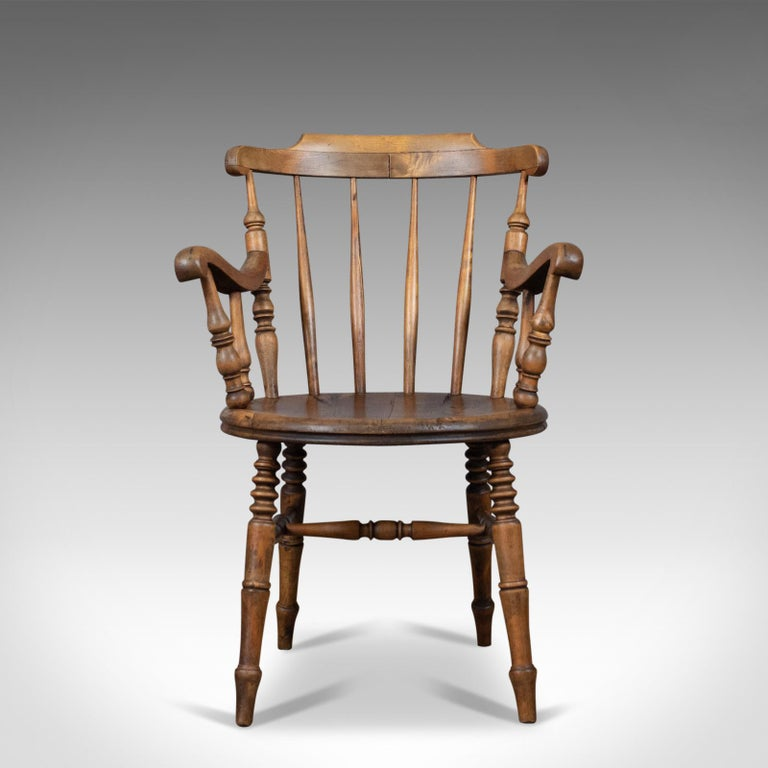 This Is An Antique Elbow Chair English Victorian Country Kitchen Armchair In