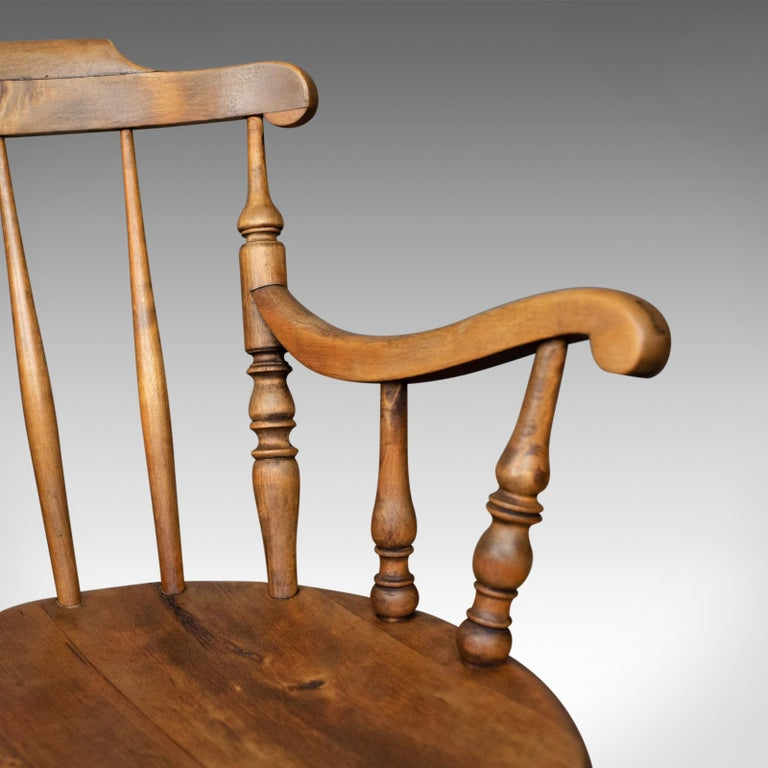Antique Elbow Chair, English, Victorian, Country Kitchen, Armchair, circa 1900 For Sale 1