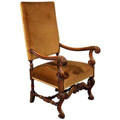 Antique Elbow Chair English Walnut Armchair Victorian, circa 1880