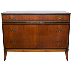 Antique Elegant Neoclassical Dresser by Landstrom with Bronze Details