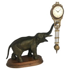 Antique Elephant Novelty Swinging Clock by Junghans
