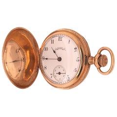 Antique Elgin 14 Karat Yellow Gold Pocket Watch