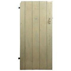 Antique Elm Beaded Plank Door, 20th Century