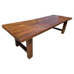 Antique Elm Wide Farmhouse Table