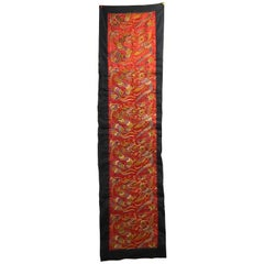 Antique Embroidered Chinese Wall Hanging