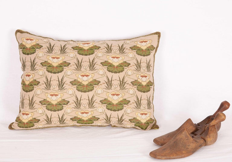 Silk Antique Embroidered Pillow from Eastern Europe, Bulgaria, Early 20th Century For Sale
