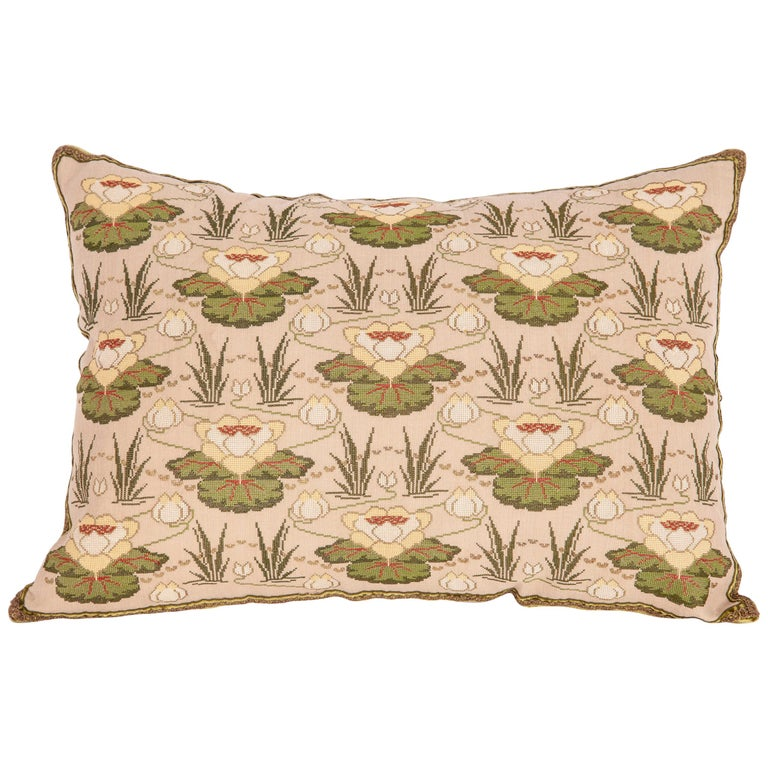 Antique Embroidered Pillow from Eastern Europe, Bulgaria, Early 20th Century For Sale