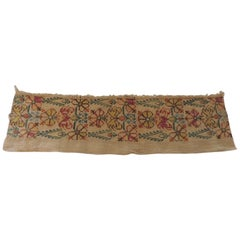 Antique Embroidered Turkish Textile Fragment