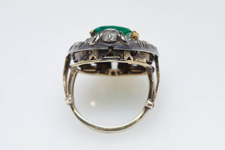 Antique Emerald And Diamond Ring For Sale At 1stdibs