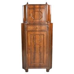 Antique Empire Corner Cupboard/ Cabinet in West Indies Mahogany, Denmark, c 1825